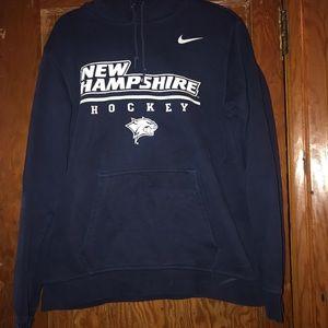 Navy blue UNH hockey NIKE hoodie